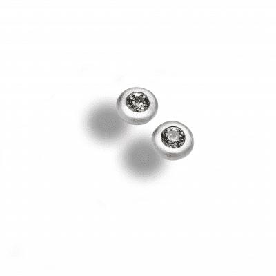 Bergkristall_Schmuck_Ohrstecker_Silber matt 346