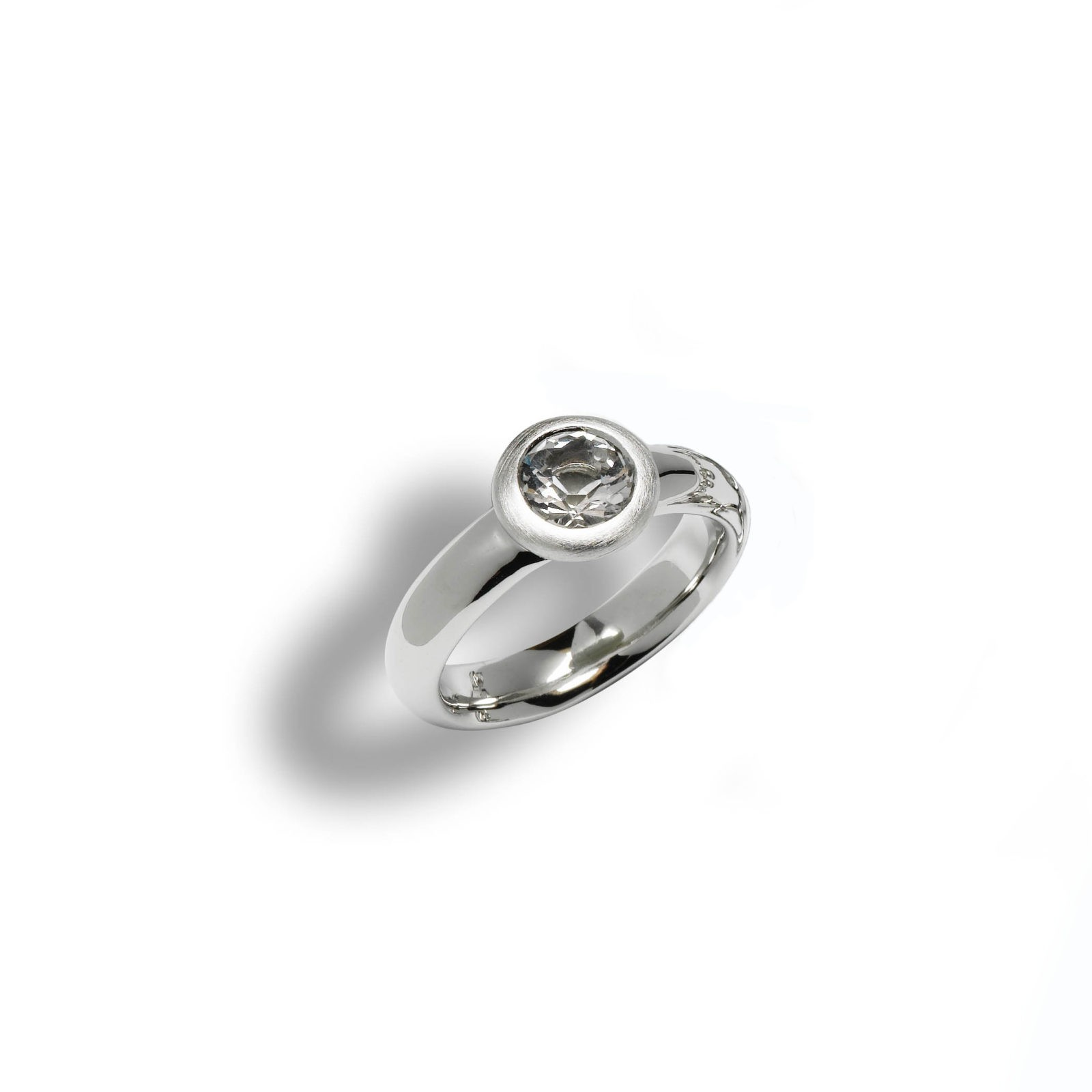 Bergkristall_Schmuck_Ring_Silber matt 130