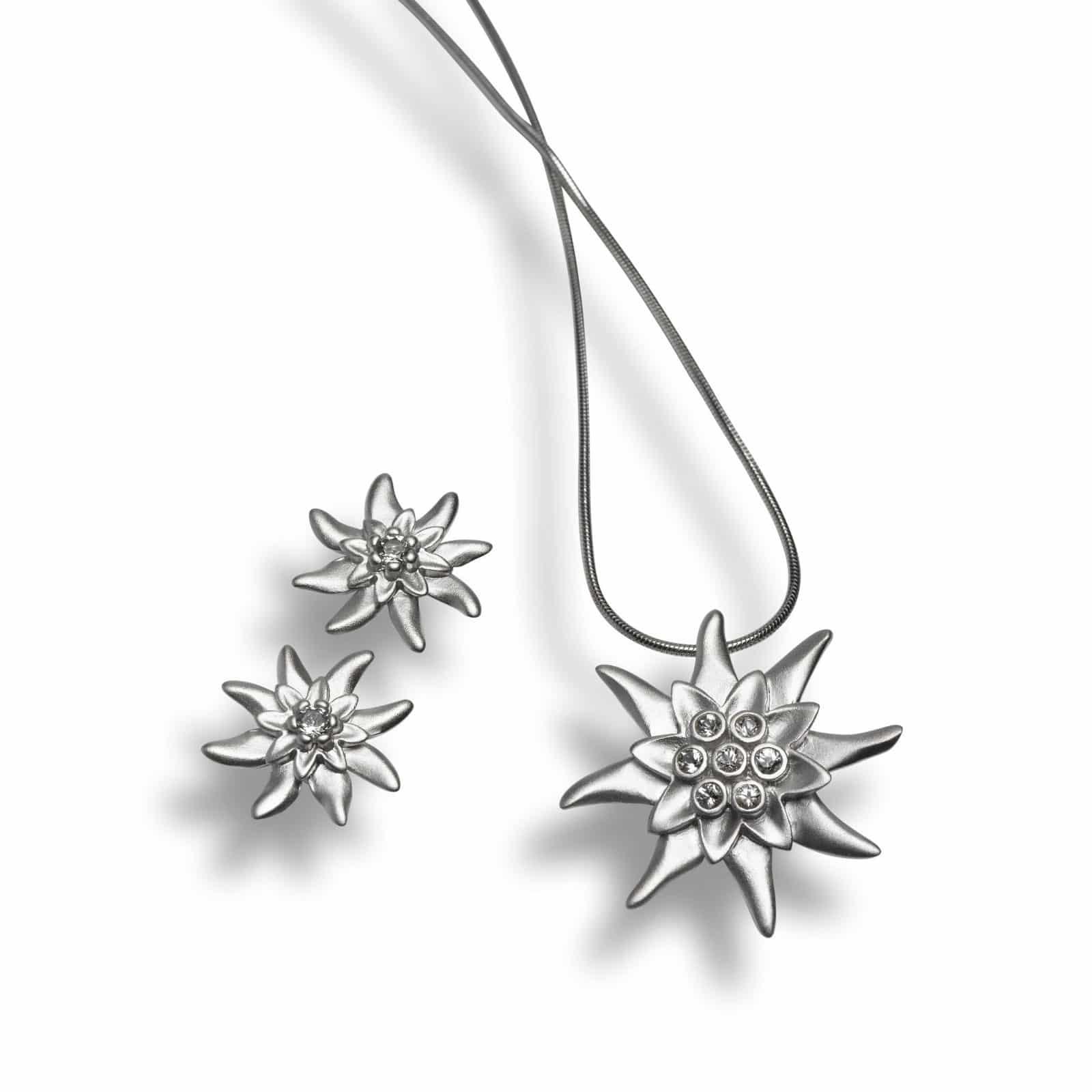 """Bergkristall-Schmuck """"Edelweiss"""""""