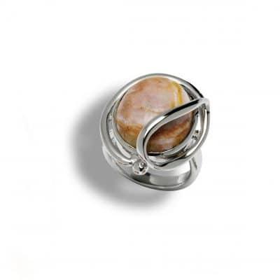 Schweizer Kristallschmuck: Rhodonit_Silberring_110