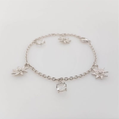 Armband Kristall Edelweiss