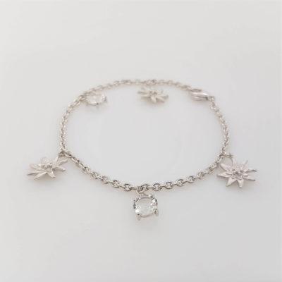 Armband Kristall Edelweiss