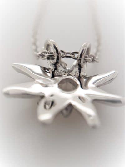 Halskette Kristall Edelweiss Sterling Silber