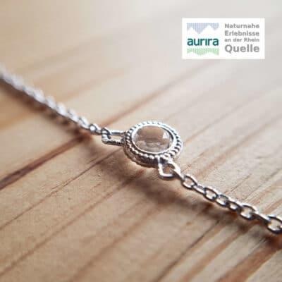 Collier und Armband Bergkristall facettiert Rund Maxi - aurira GmbH